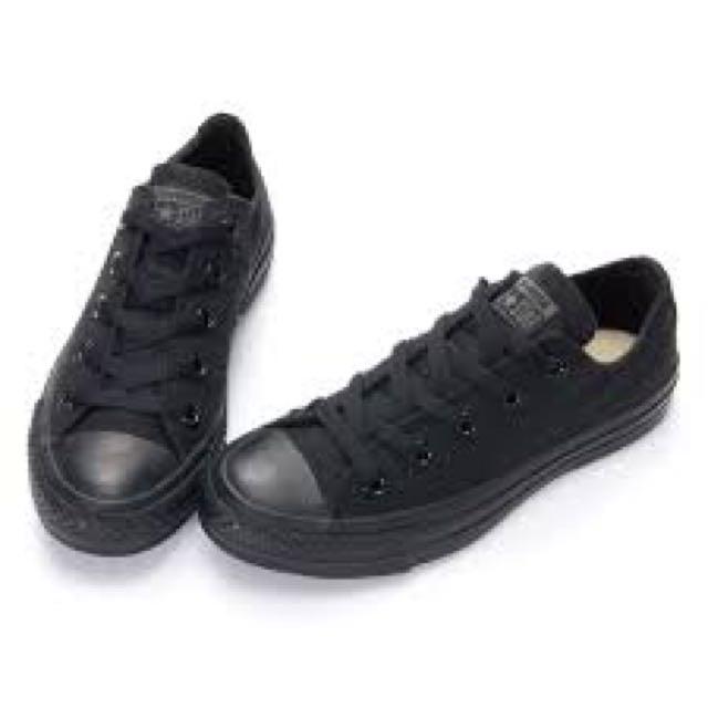 二手轉賣 all star 全黑帆布鞋 23.5cm