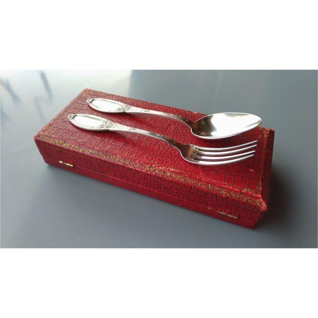 歐式鍍銀湯匙叉子組 Spoon and Fork Vintage Set