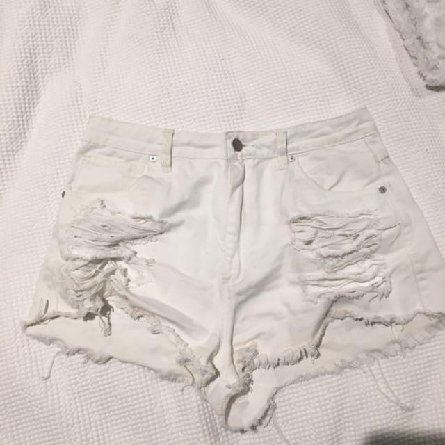 Abrand White Shorts