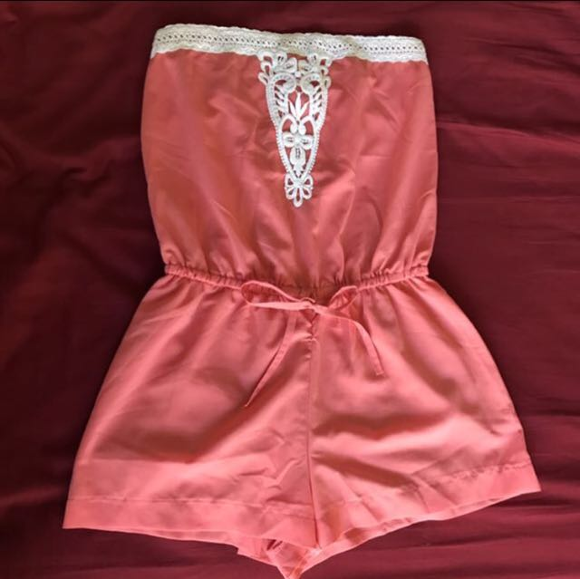 ALLY Peach Playsuit