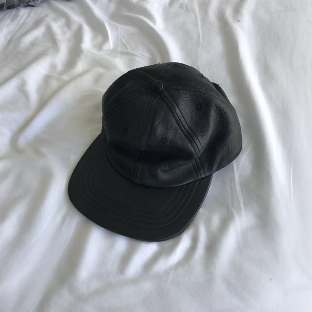 American Apparel Leather Baseball Cap