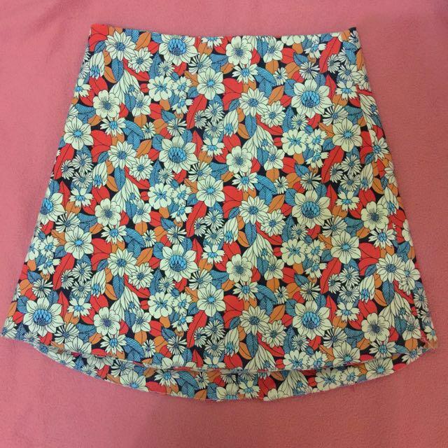 Amily High Waist Floral Mini Skirt