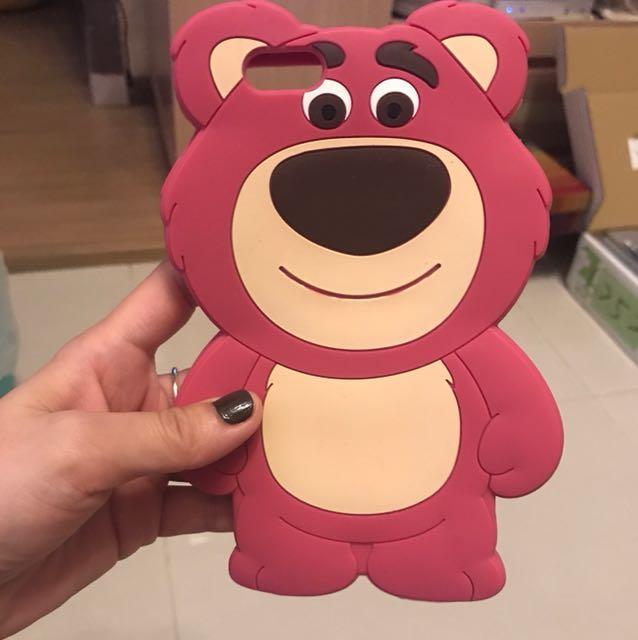 粉紅熊抱哥apple6 plus手機軟殼原價790特價350
