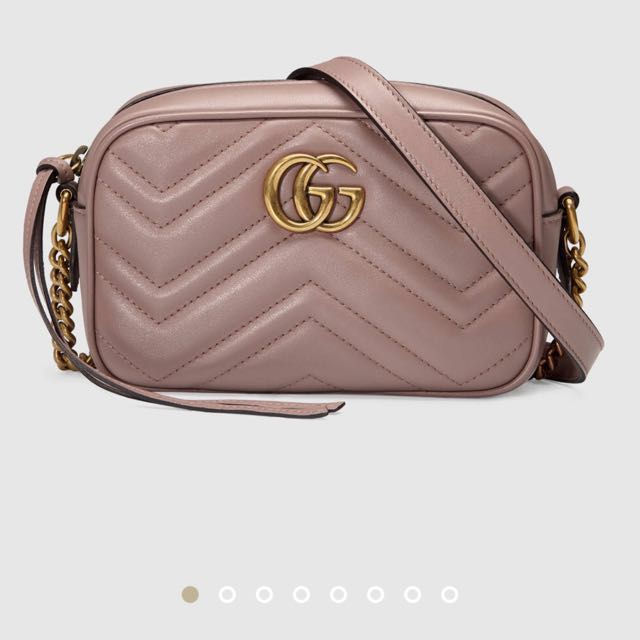 1ce9456d55f Authentic Gucci marmont mini camera crossbody bag - nude taupe beige ...