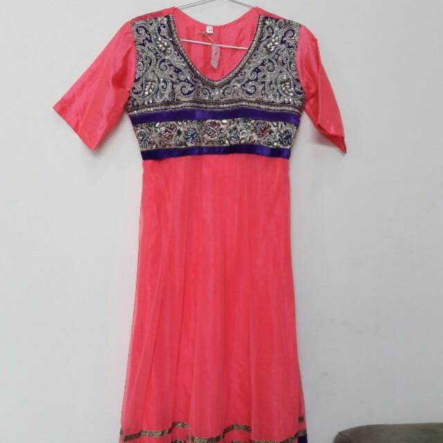Baju Muslim India Pink