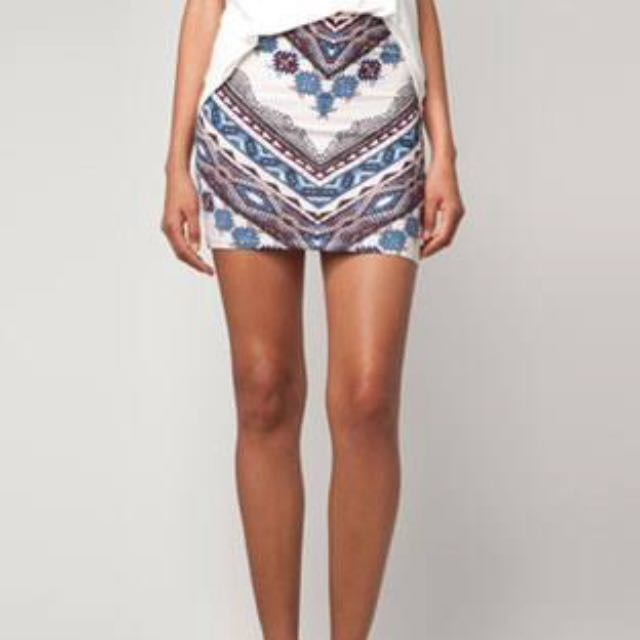 Bershka Tribal Bodycon Skirt