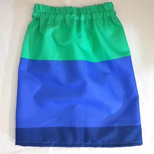 Blue & Green Skirt