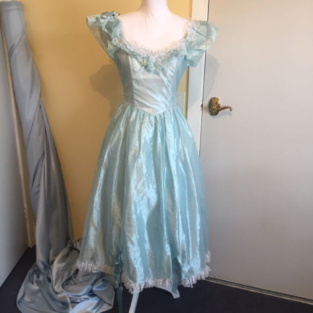 Blue Lace Princess Vintage Ariel The Little Mermaid Cosplay Dress