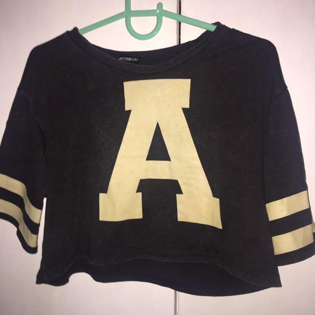 Bottomline crop jersey top