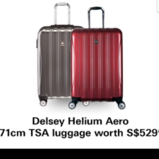 Brand new Delsey Helium Aero 71cm TSA Lugguage