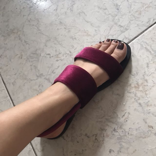 Brand new suede flats from Singapore!!