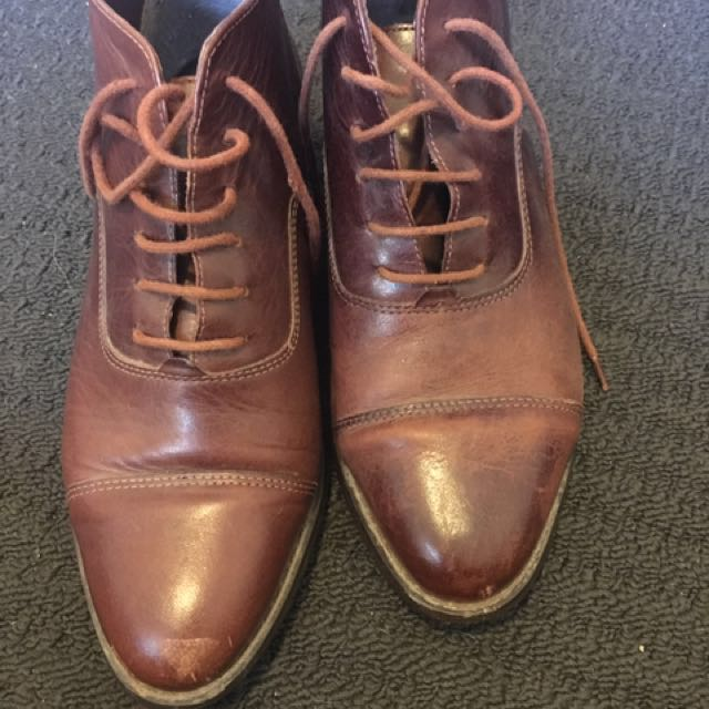 Brown Ankle Boots *used*