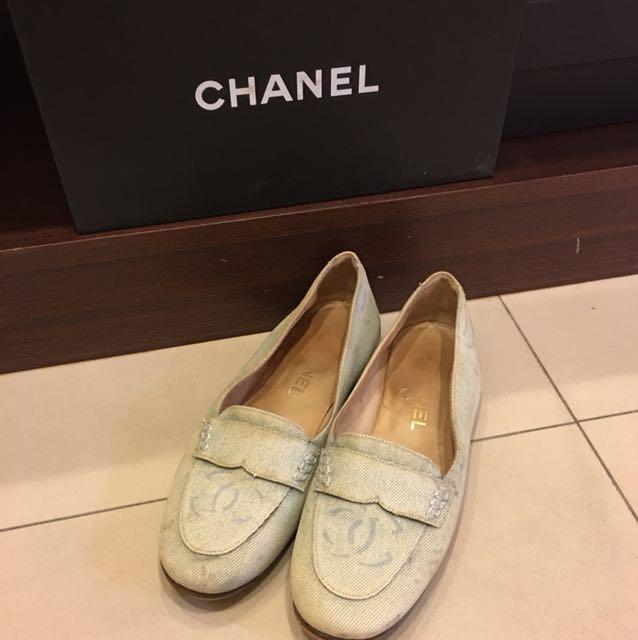 CHANEL 單寧圓楦便鞋