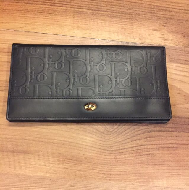 Christian Dior黑色真皮長夾