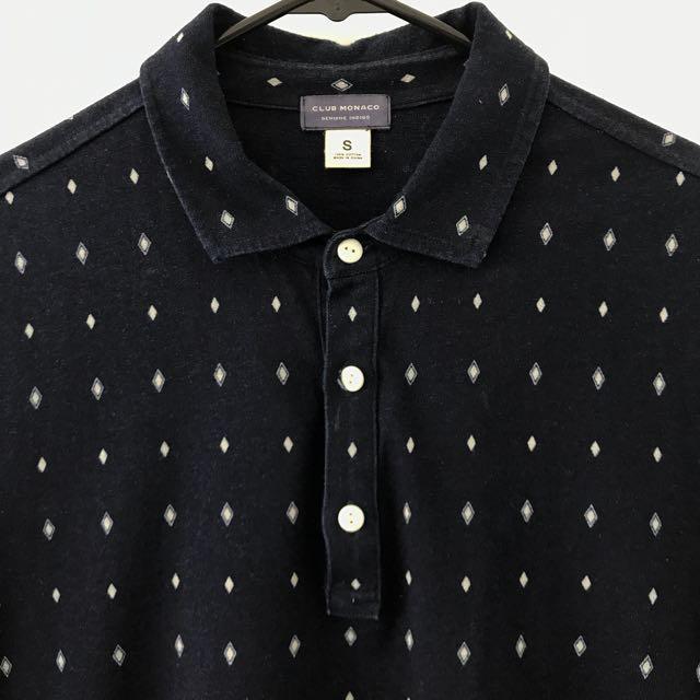 Club Monaco Short Sleeve Button Up