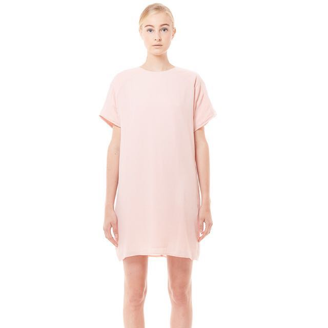 a280755d21 Collate Pleated Shoulder Tee Dress