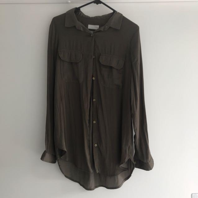 Cotton on khaki oversized shirt