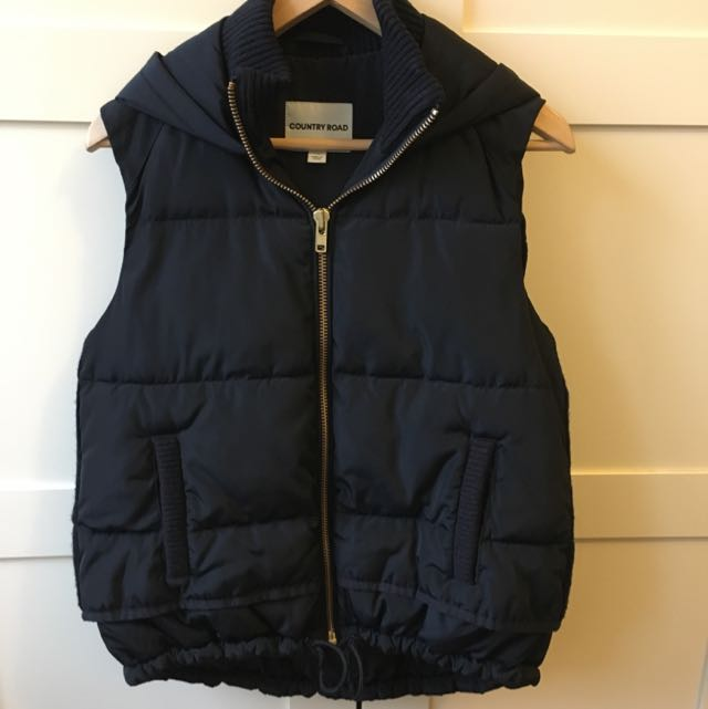 Country Road Puffer Vest With Hood XS
