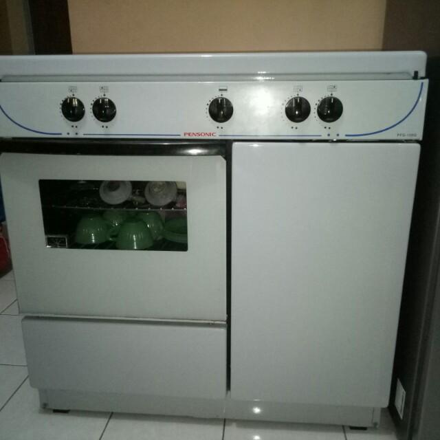 Dapur Gas Ada Oven Skali Ade 4 Pembakar Masih Elok Utk Memasak Mambakar Biskut Kek Kitchen Liances On Carou