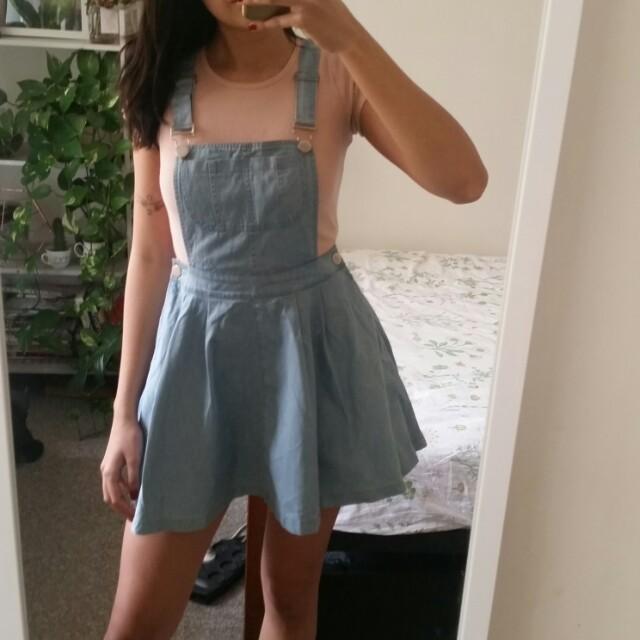 Size 10 denim pinafore dress