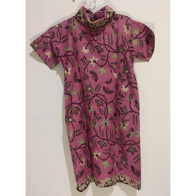Dress Batik Turtleneck