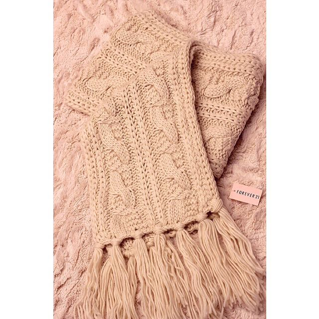 F21 Cable Knit Scarf