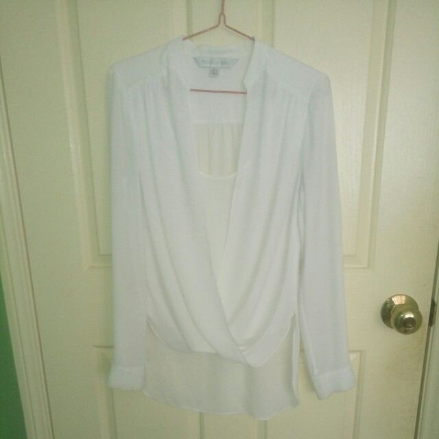 Forever New white blouse size 6