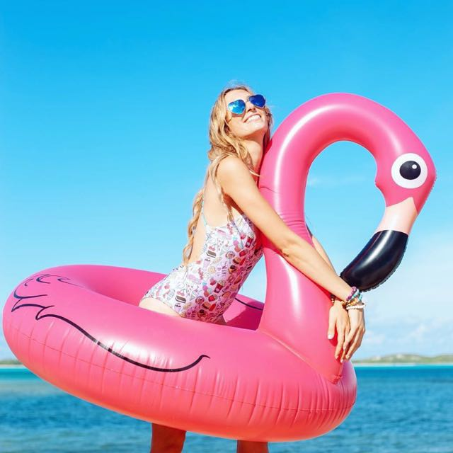 (Free Postage) pink flamingo swan float