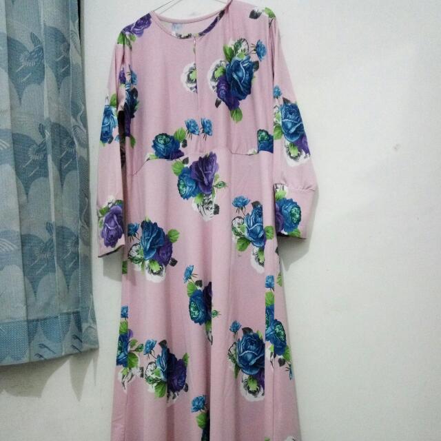 Gamis Bunga Pink