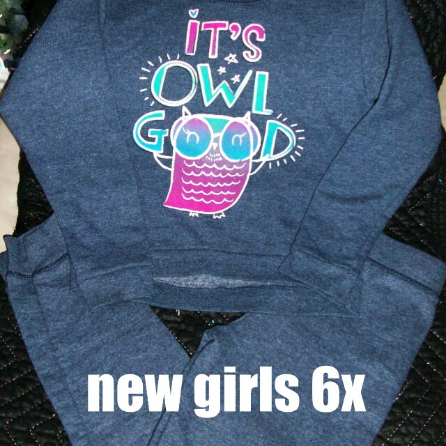 Girls Hanes sweat outfit brand new