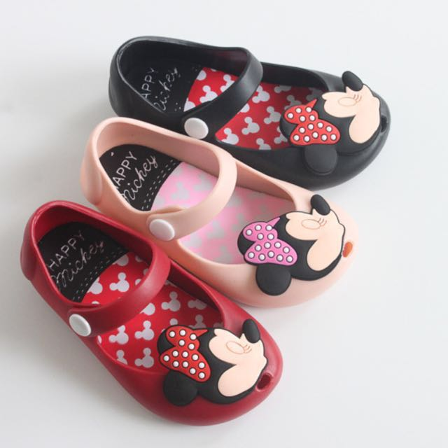 547c62cf1624 Girls  Mickey   Minnie Mouse Jelly Shoes