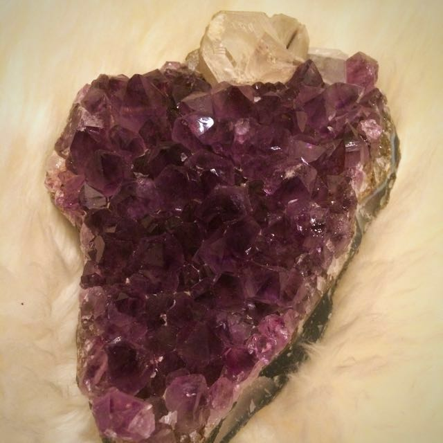 Heart Shaped Amethyst With Quartz