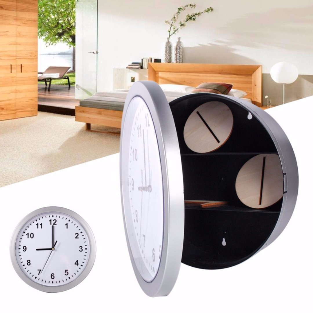 Hidden Safety Safe Box Wall Clock Design