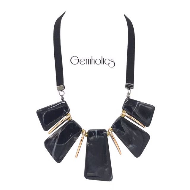 High quality werra marble Statement Necklace