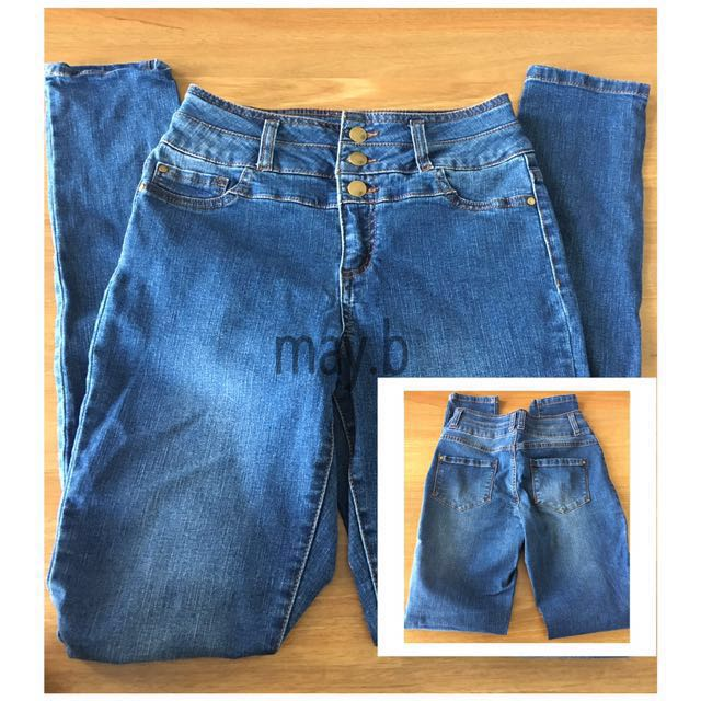 High Waisted Skinny Demin Jeans Size 9