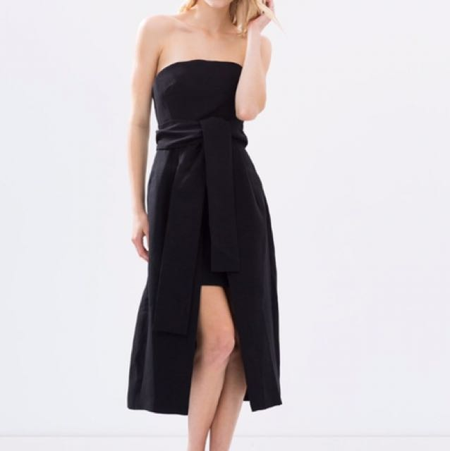 HIRE: C/meo Collective Wake Me Dress in Black  Size 10