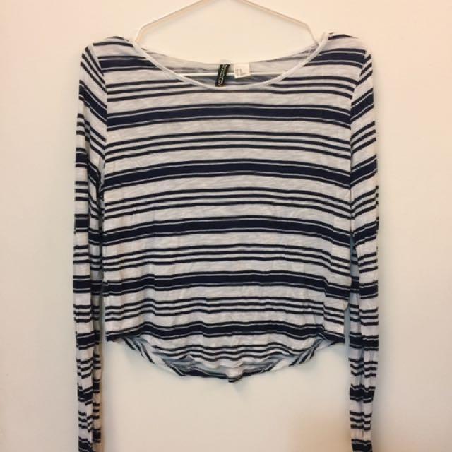 H&M條紋條紋上衣(九成新)