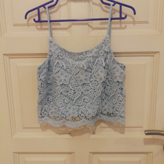 H&M baby blue tops