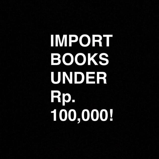 Imported books under started from Rp. 0 !!!
