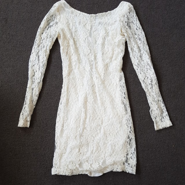 Ivory detailed lace dress size 8