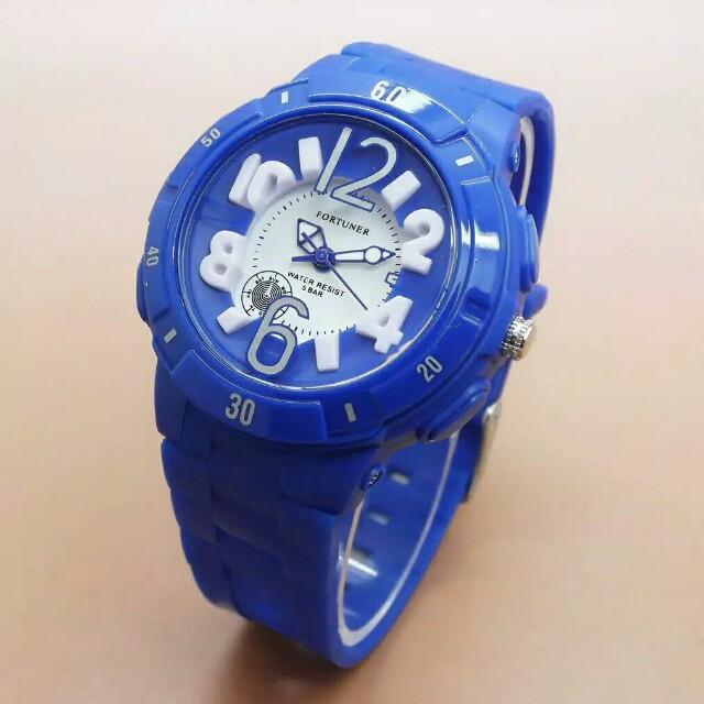 Jam tangan wanita garansi Fortuner MURAH KODE JA-872 RUBBER