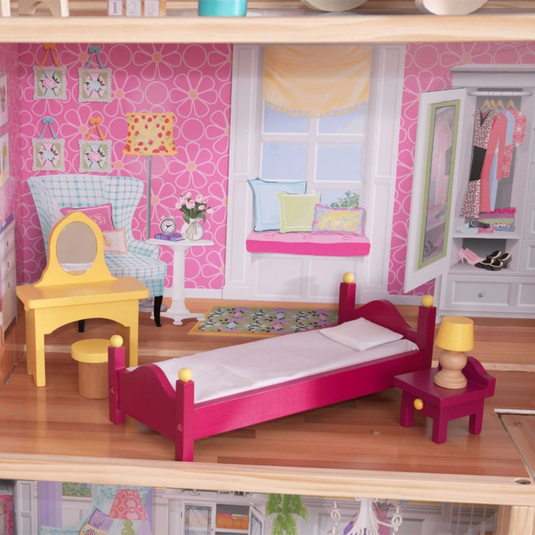 Kidkraft Majestic Mansion Dollhouse With Furniture Barbie Doll House