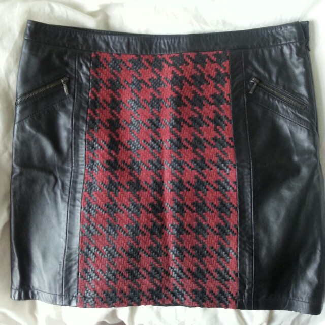Leather skirts with tags ($200) $50