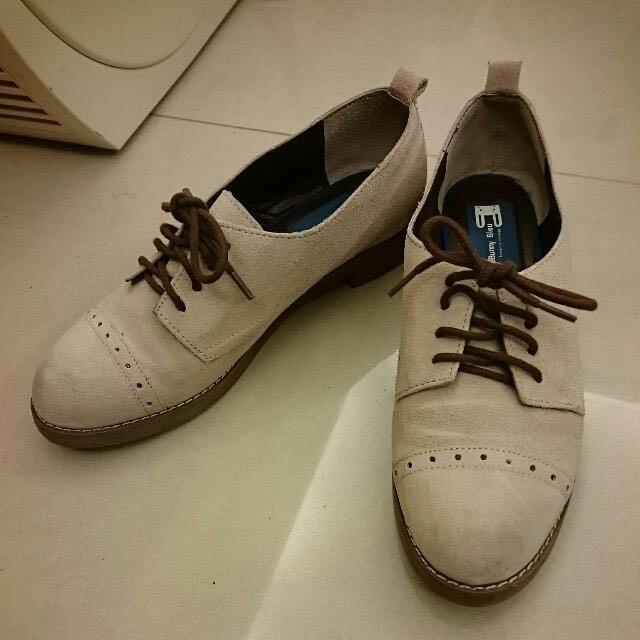 LeBunny Bleu 麂皮粉色牛津鞋 6.5號