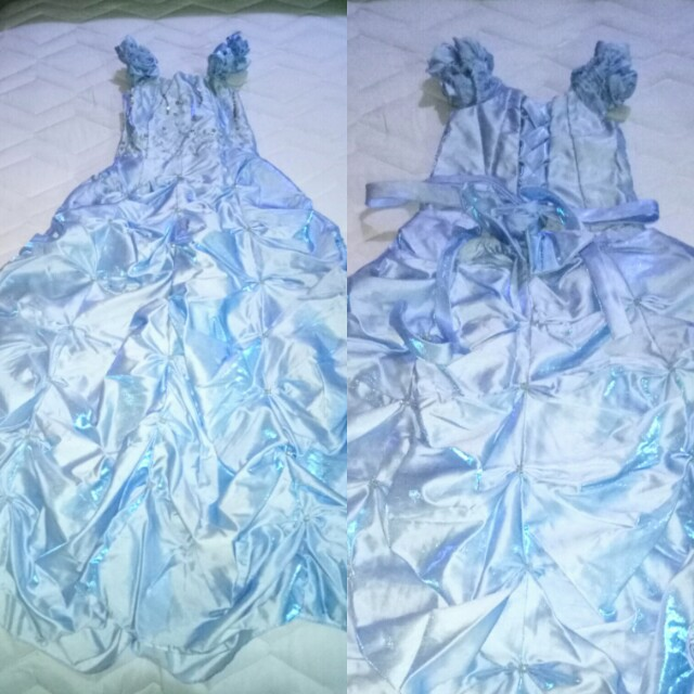 Light blue long gown