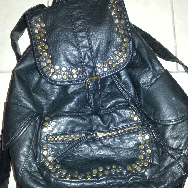 Like new real leather backpack