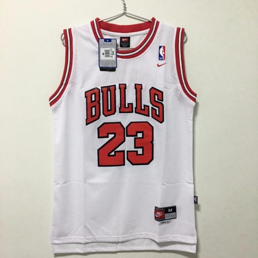 ec513690947 (M) Chicago Bulls #23 Michael Jordan Basketball NBA Jersey White, Sports,  Sports Apparel on Carousell