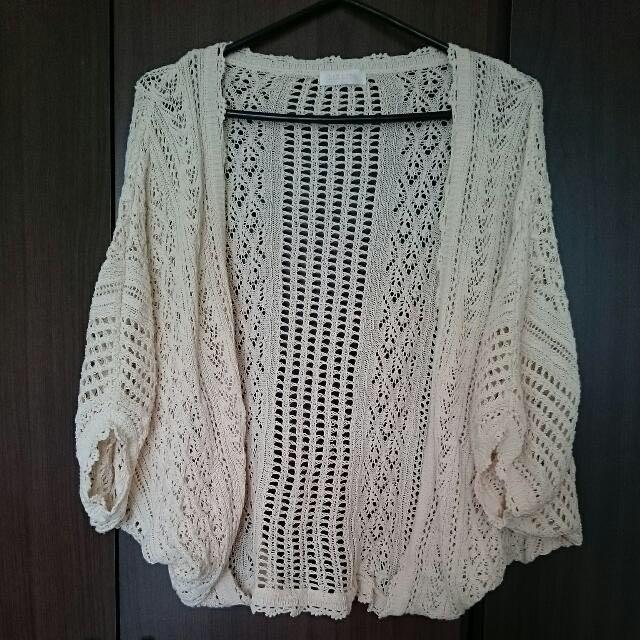 MAJOR一號店購入 LIZLISA粉色針織罩衫外套