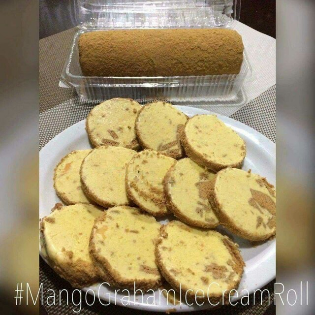 Mango Graham Ice cream Roll