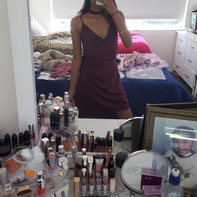 Maroon misguided dress